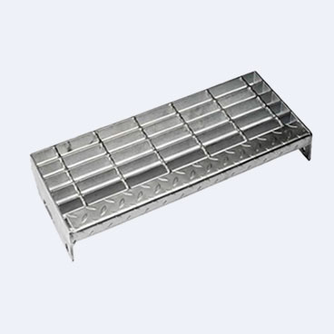 Steel stair treads are eary to clean and have very strong effect to reduce the opportunity of slipping