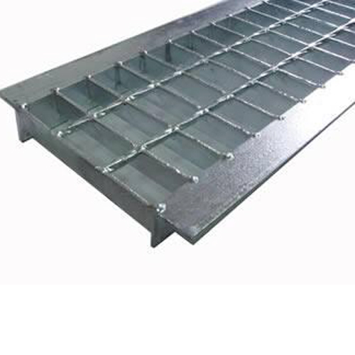 Angle sided steel grating product with smooth surface