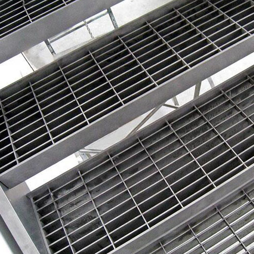 Plain Non Slip Steel Stair Treads Grating