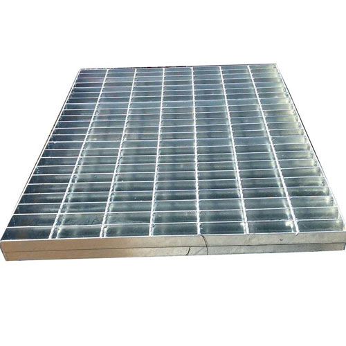 Platform Galvanized Steel Grating High Strength Q235 Building Material