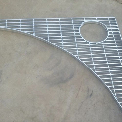 Custom Galvanized special shaped way floor steel grating