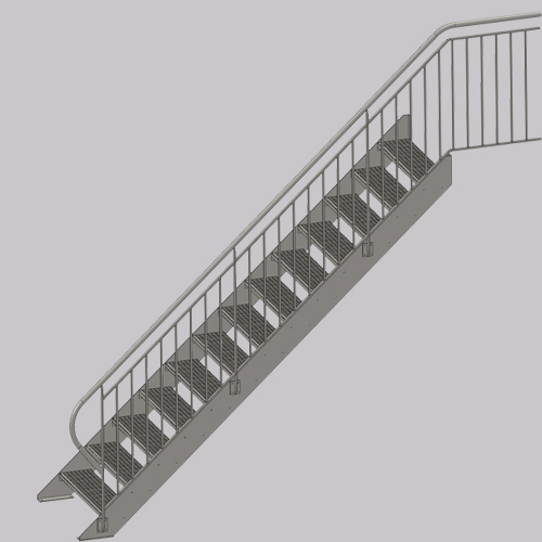 Factory Hot Grating Galvanized Metal Steps Steel Stair Tread Price For Wholesale
